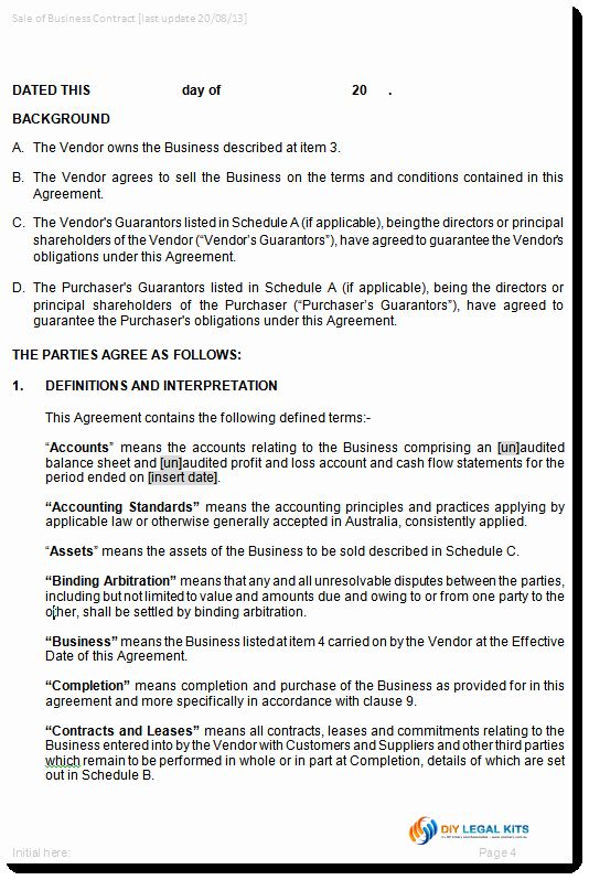 Luxury Contract For The Sale Of Business Purchase Agreement Template In 2020 Contract Template Purchase Agreement Business Sales