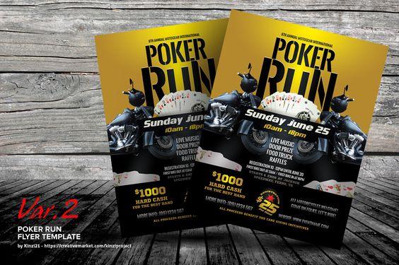 Poker Run Flyer Templates | Flyer template, Poker and Template