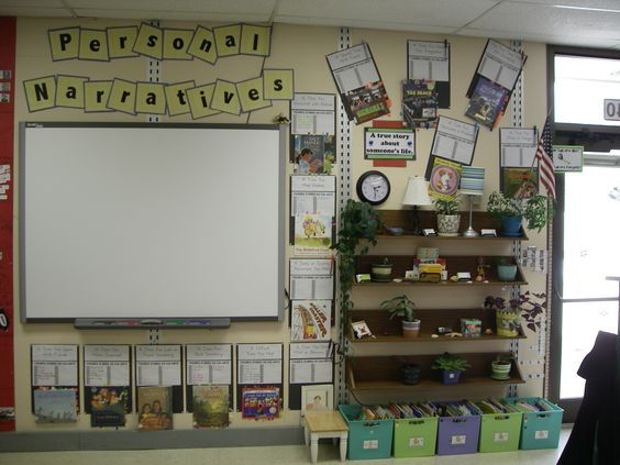 Personal narrative unit showing mentor texts and writing ideas.