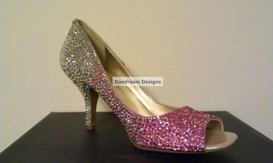 Custom Color Transitioning Bling Pumps. $250.00, via Etsy.