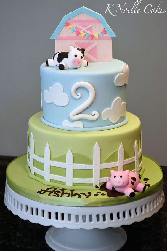 Cake Decoration Farm Theme : Farm theme cake By K Noelle Cakes Cake Decorating - 1s ...