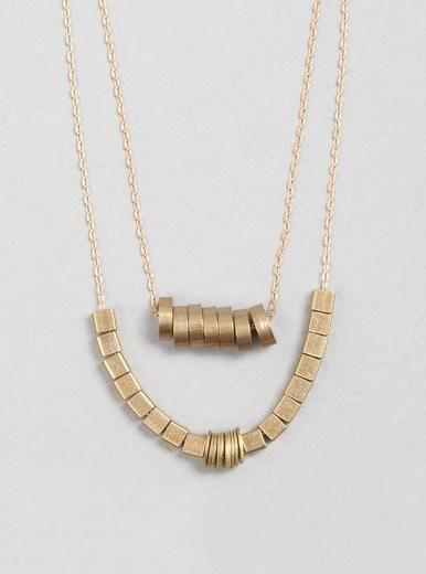 hermoso collar metalico