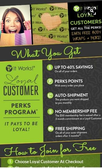 Loyal customer program see how it works .call/text 484-553-5155  http://Totalbodyconcepts.myitworks.com  #itworks #itworksloyalcustomer #itworksstayathomejobs