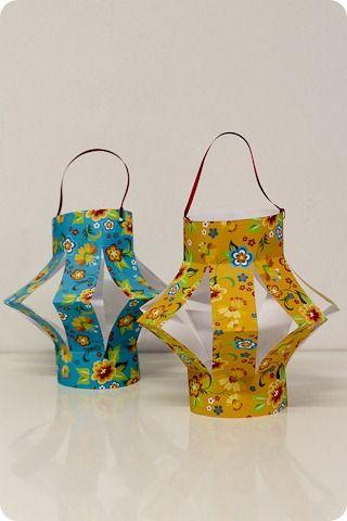 Do It Yourself - DIY - Lanterna de Festa Junina - Decoração - Tuty - Arte & Mimos www.tuty.com.br: