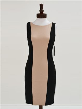 Alice + Olivia Amena Fitted Colorblock Dress newchicboutique.com