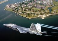 F-22 Raptor over Fort Monroe, Virginia
