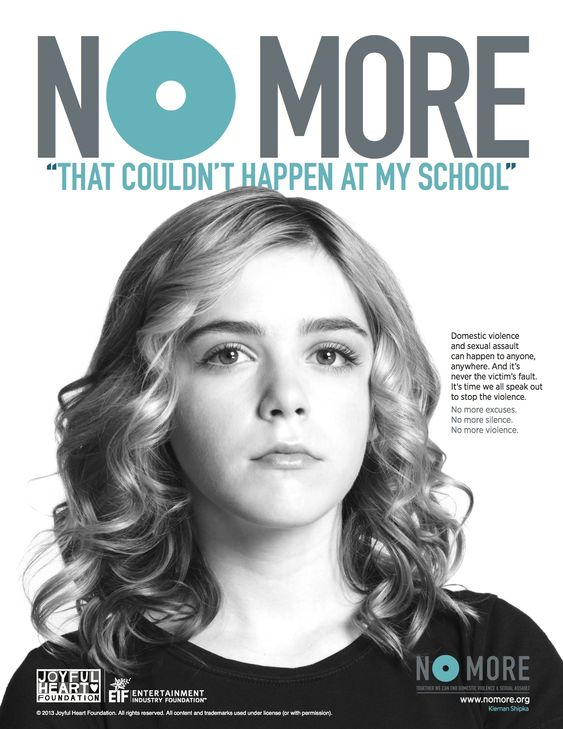 No More PSA Print Ads - way too many to just post one. Over 50 celebrities involved in this endeavor to end domestic violence and sexual assault.: