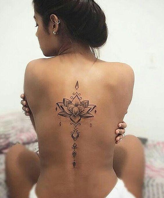 30 Stunning Lotus Flower Tattoo Ideas Flower Spine Tattoos Spine Tattoos For Women Flower Tattoos