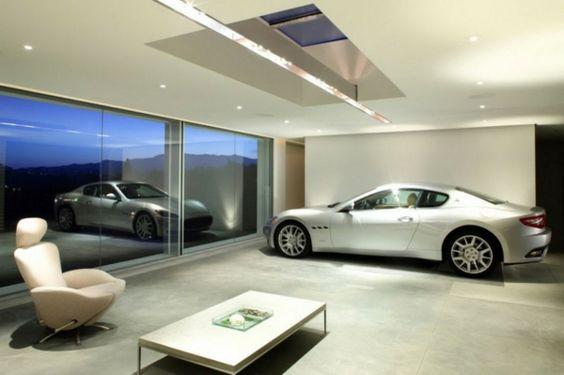 Die Auto Garage anordnen - Luxus Erdgeschoss