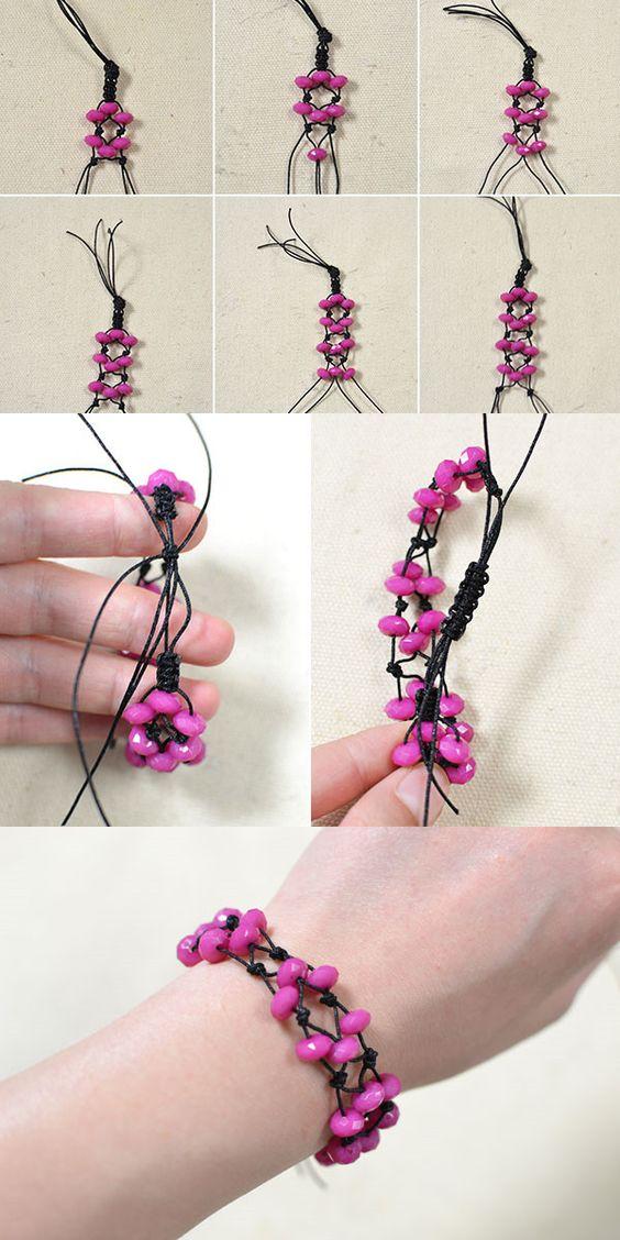 Tutorial for adjustable rose bracelet from LC.Pandahll.com: