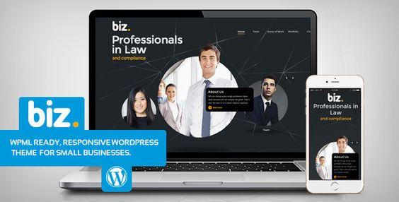 Biz Law & Business WordPress theme