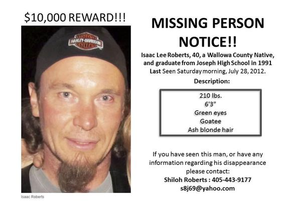 If you know anything please contact law enforcement CAUSES I - missing person template