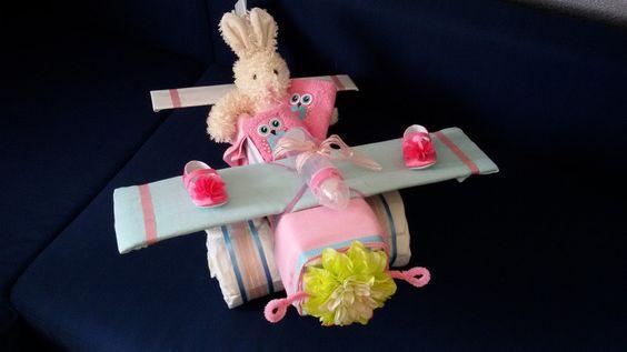 Windeltorten - Windeltorte Windelflugzeug - ein Designerstück von Kreative-Kleinigkeiten bei DaWanda