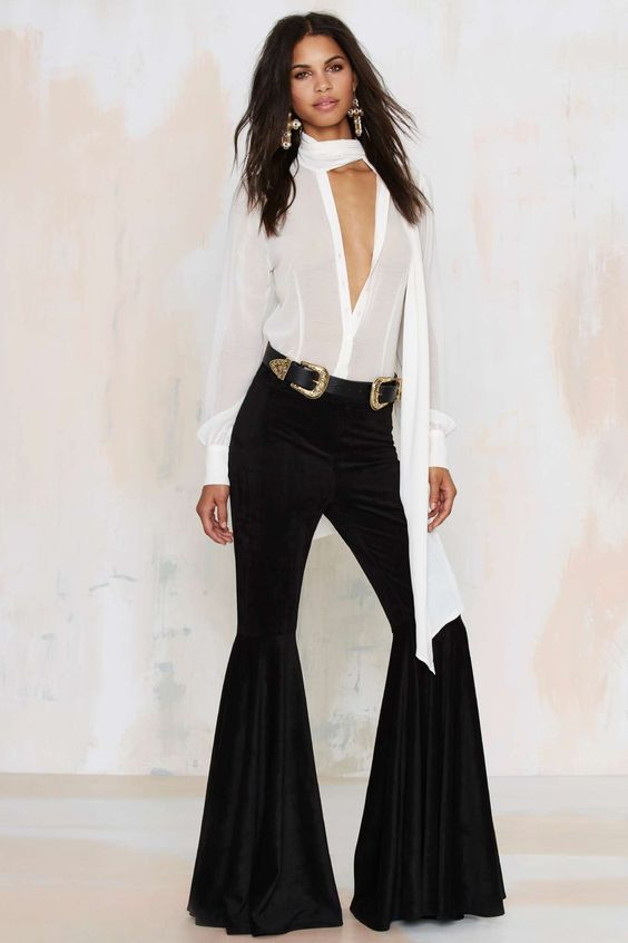 After Party Vintage Cheri Bell Bottom Pants | Shop Clothes at Nasty Gal!