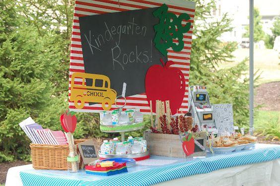 school (bus) party theme; great tablescape & decorations  3-24-12