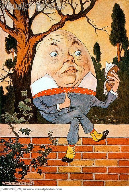 Humpty Dumpty Sitting on a Wall, Illustration by Milo Winter, 1916
