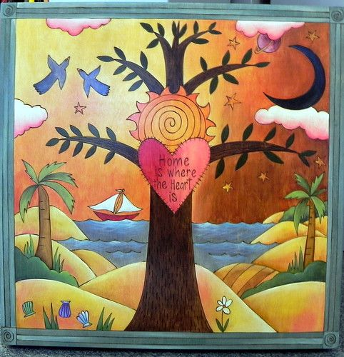 Sticks Plaque Plq020 Home Sweet Home At Smith Galleries Folk Art Painting Mexican Paintings Art