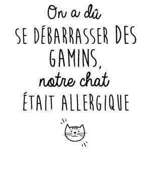 personnaliser tee shirt Le chat était allergique