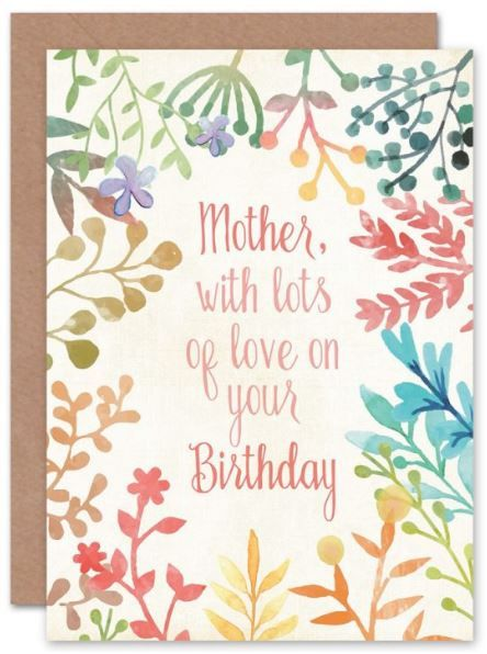 Mother Lots Of Love Floral Birthday Card Mum Birthday Card Mom Birthday Card Mother Birthday F Free Birthday Card Birthday Cards For Mum Birthday Cards Diy