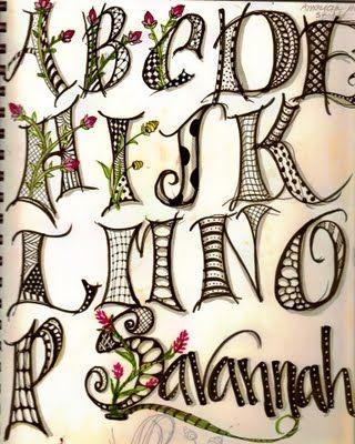 letter filler ideas: Lettering Idea, Embroidery Design, Art Journal Ideas Doodles, Alphabet Lettering Font, Embroidery Letters Fonts, Letter Doodle, Letter Filler