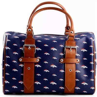 Anastasio Moda Denver Broncos Ladies Annabella Italian Made Handbag - Navy Blue