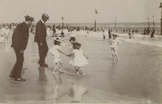 Rockaway Beach. My grandparents were here in 1919, and yes, he was wearing a suit.
