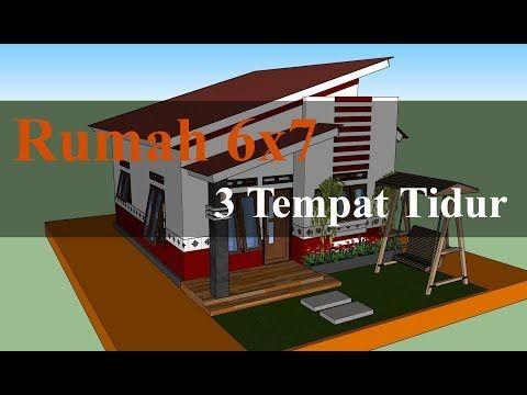 rumah minimalis sederhana ukuran 6x8 - desain rumah