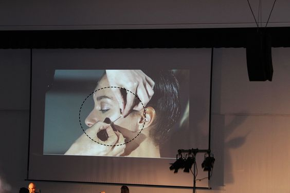 The Neill Gorton Prosthetics event... Whilst visiting the Neill Gorton Show I attended 'Beauty without Borders' with Rebecca Butterworth. To which they underwent a prosthetic application demo of sewing beads into the face. This gave me the idea to expand the patchwork to the face. I am extremely excited to explore this idea through experimentation to truly push myself as a make-up artist.