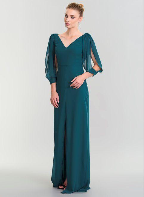 People By Fabrika Kadin Kollari Sifon Abiye Elbise Yesil Morhipo 21619471 Sifon Elbise Uzun Elbise Moda Stilleri