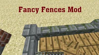 Minecraft download Fancy Fences 1.6.2/1.5.2 | Download Free Minecraf Mod