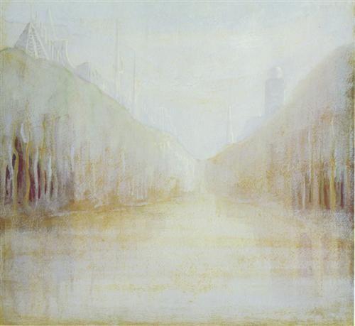 Daybreak (II) - Mikalojus Ciurlionis