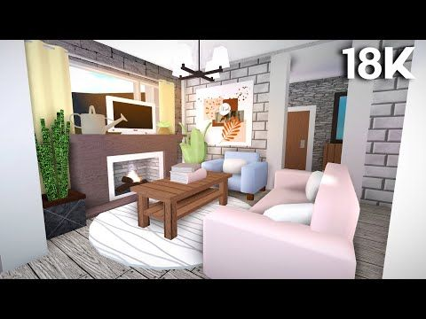 Roblox Bloxburg 18k Budget No Advance Placement Blush Bungalow House House Build In 2020 Aesthetic Bedroom Building A House House
