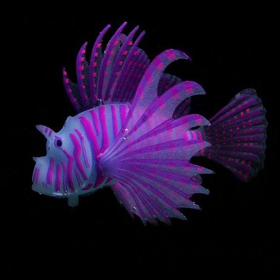 Glow In Dark Artificial Jellyfish / Lionfish