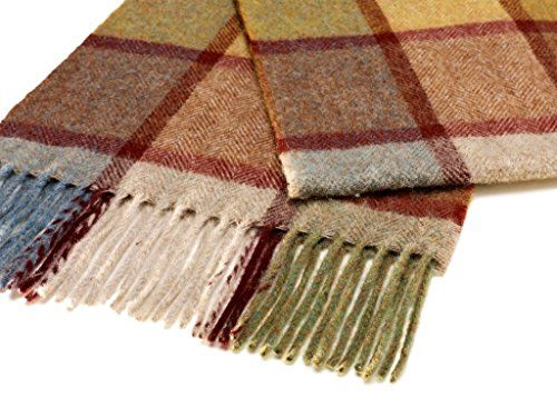 Bronte Luxury Warm Lambswool Scarf Dales Check Scarves Made in Britain