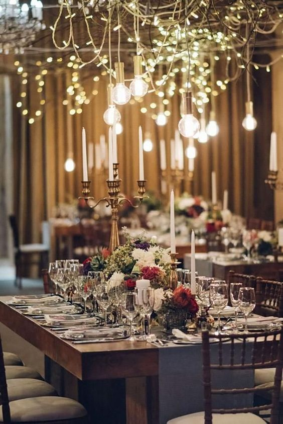 15 Glam Wedding Decor Ideas â?¤ glam wedding decor ideas lighting indoor decor MvR Film  #weddingforward #wedding #bride