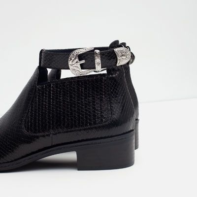 Image 4 of FLAT BOOTIE WITH ANKLE STRAP from Zara