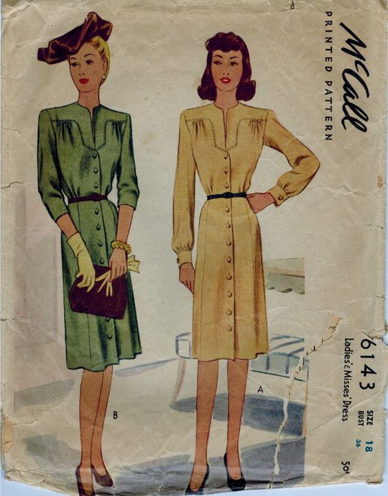 40s Dress Sewing Pattern long Sleeves 1940s Cocktail Dress Pattern Size 18 mccall di SissysPatterns su Etsy https://www.etsy.com/it/listing/253664951/40s-dress-sewing-pattern-long-sleeves
