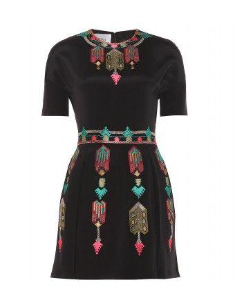mytheresa.com - Robe en soie à broderies - robes - Vêtements - Sale - Luxe et Mode pour femme - Vêtements, chaussures et sacs de créateurs internationaux
