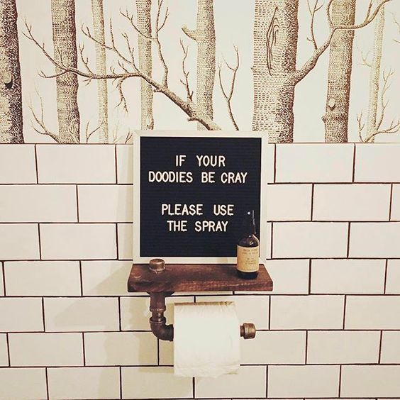 If you're wondering whether Letterfolk boards have a place in the bathroom, the answer is an unequivocal yes. 📷: @btsquirrely