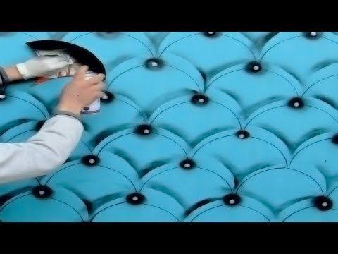 حيلة ذكية لعمل ديكور قشور الأسماك تنجيد حديث ثري دي باستخدام مربع كرتون و عبوة سبراي Youtube Wall Lighting Design Curtain Decor Wall Painting