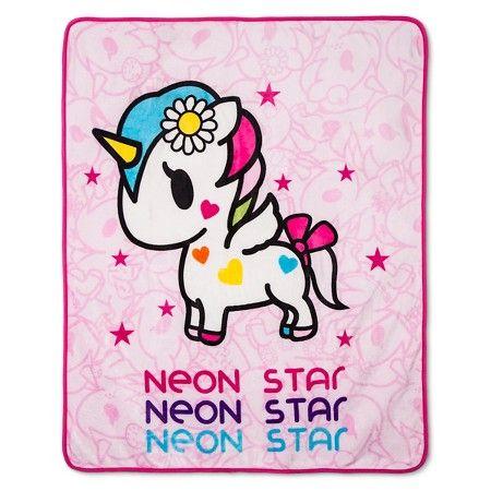 """I Love Unicorns Throw (50""""x60"""") - Neonstar® by Tokidoki® : Target"""