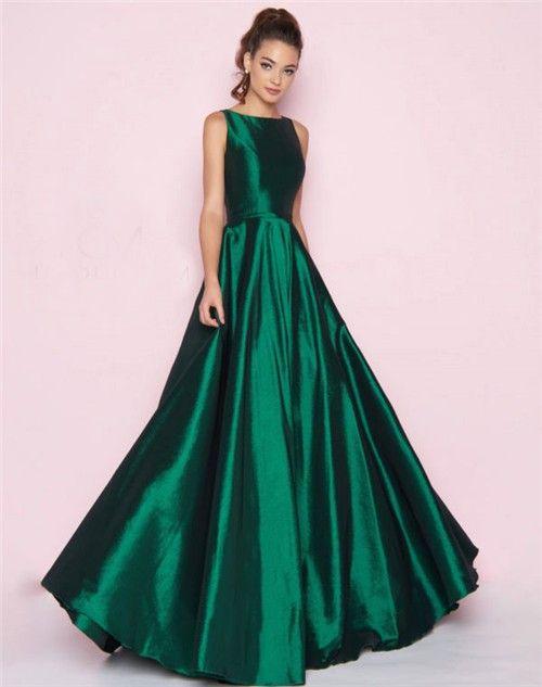 Longemerald Green Taffeta Dress