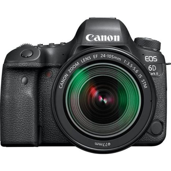 Reflex Canon Eos 6d Mark Ii Black Lens Ef 24 105mm F 3 5 5 6 Is Stm In 2020 Digital Slr Camera Canon Eos Digital Slr