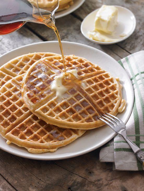 Old Fashioned Buttermilk Waffles Recipe Yummly Recipe Waffle Recipes Waffle Iron Recipes Food