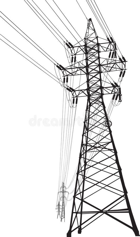 High Voltage Power Line Vector Silhouette Of High Voltage Power Lines And Pylon Affiliate Power Line High Volt High Voltage Geometric Drawing Power