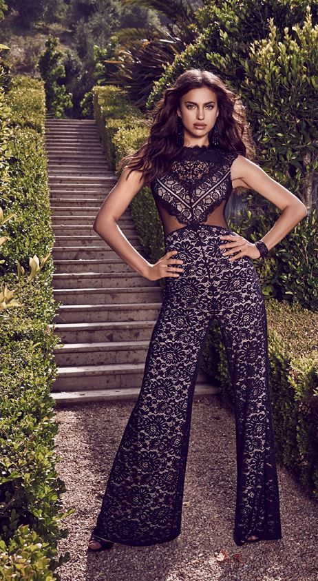 Lace jumpsuit at @bebestores  available with #free2dayshipping for @shoprunner members