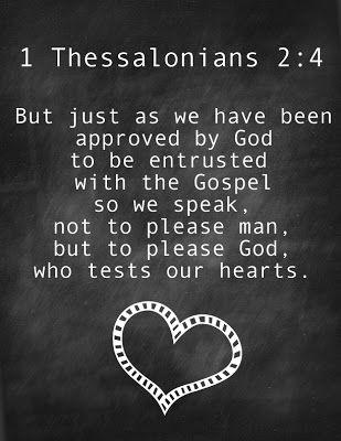 1 Thessalonians 2:4 Printable www.BrightGreenDoor.com