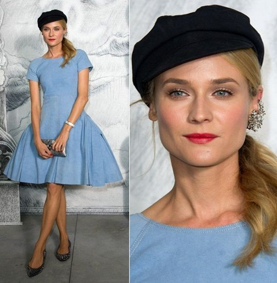 diane-kruger-chanel-haute-couture-fall-2012-fashion-show-blue-dress