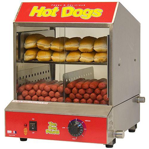 Benchmark USA 60048 - Hot Dog Steamer/Merchandiser, Holds 164 Hog Dogs