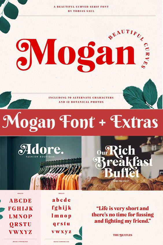 Mogan Font Extras Font Guide Fonts Cool Fonts